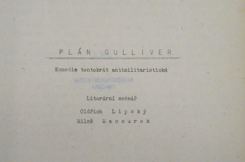 Never realised Czechoslovak sci-fi film scripts